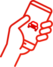 Ilustração de uma mão segurando um celular